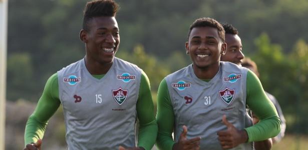 Promessas da base, Leo e Wendel treinam no Fluminense