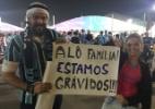 Gremistas escondem gravidez para viajar e avisam família pelo UOL - Luiza Oliveira/UOL