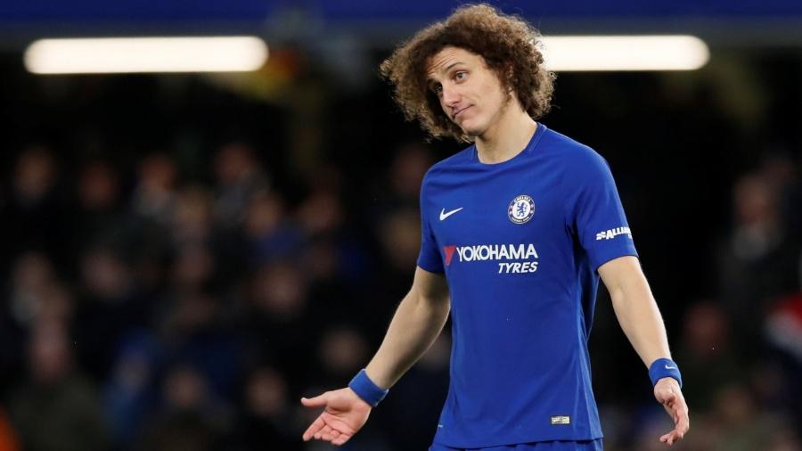 David Luiz em ação pelo Chelsea contra o Norwich - David Klein/Reuters