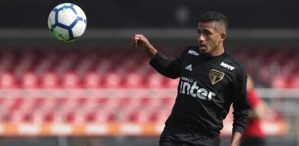 O atacante equatoriano Joao Rojas, do São Paulo