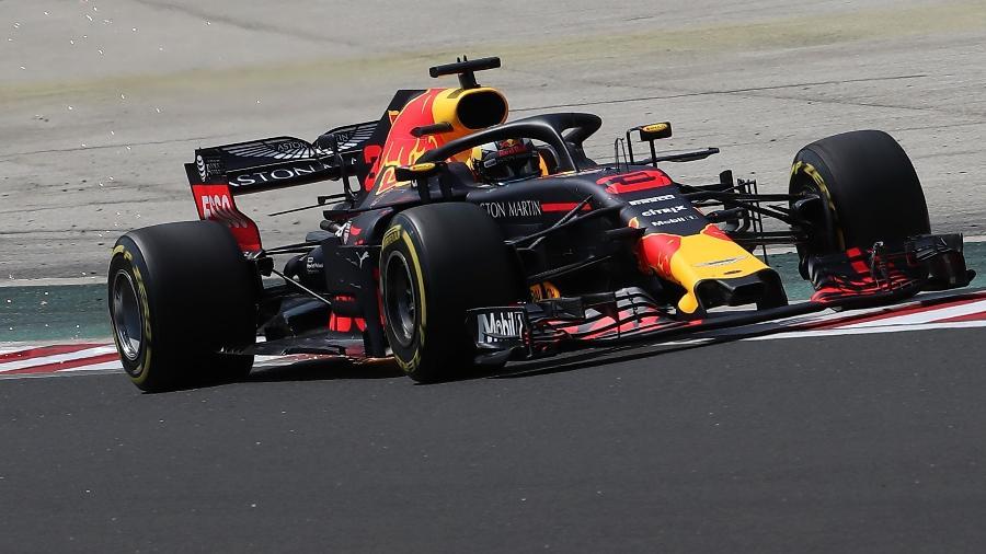 Daniel Ricciardo durante treino livre para o GP da Hungria - Ferenc ISza/AFP
