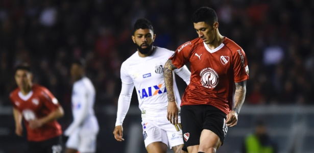 Santos não deu um chute a gol no jogo de ida das oitavas de final da Libertadores - Marcelo Endelli/Getty Images