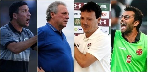 Técnicos têm missões diferentes em Botafogo, Flamengo, Fluminense e Vasco em 2019 - Montagem/UOL