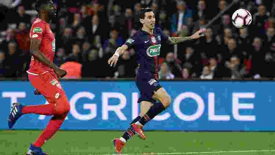 Di María marcou dois na partida contra o Dijon pela Copa da França -  Philippe LOPEZ / AFP
