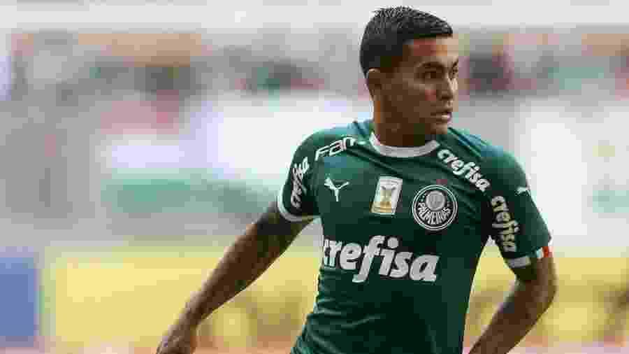 Dudu domina a bola em partida do Palmerias contra o Botafogo em Brasília - Divulgação/Palmeiras