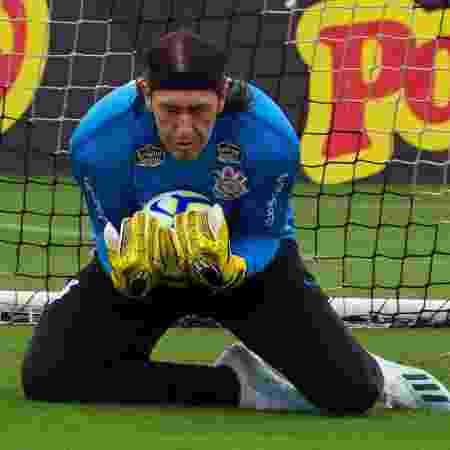 Cássio, goleiro do Corinthians, durante treino no CT Joaquim Grava - Daniel Augusto Jr./Agência Corinthians