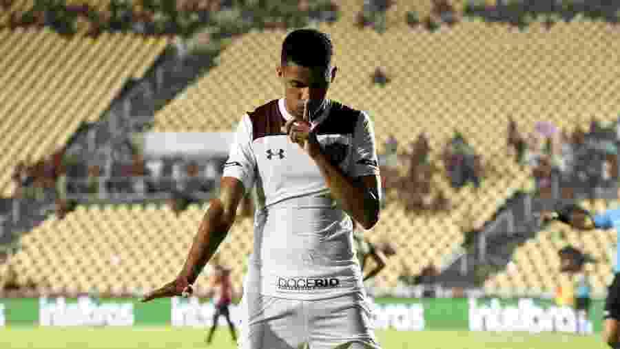Marcos Paulo marcou o primeiro gol pelo Fluminense em 2020, contra o Moto Club, pela Copa do Brasil - Mailson Santana/Fluminense FC