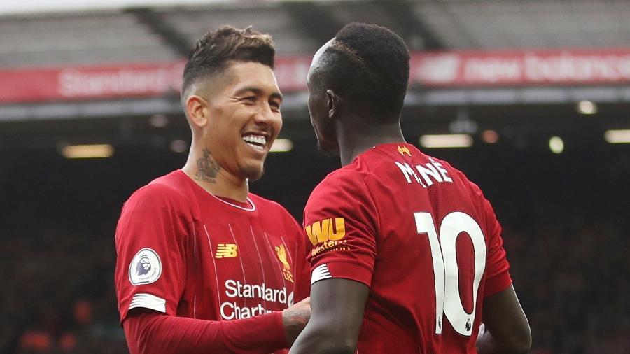 O Liverpool pode ser campeão do Campeonato Inglês contra o Everton - Carl Recine/Reuters