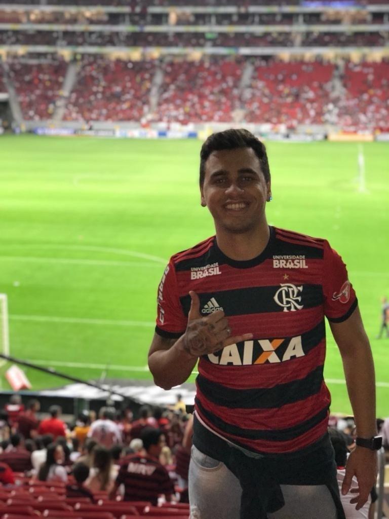 Pedrinho do Cavaco em jogo do Flamengo no Mané Garrincha