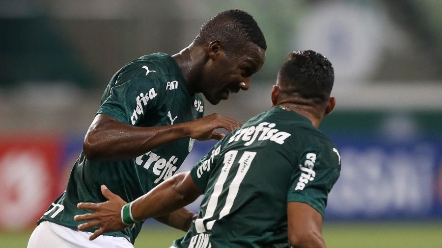 Patrick de Paula comemora gol da classificação do Palmeiras para a final do Paulista - Cesar Greco/SE Palmeiras