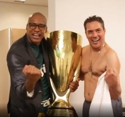 Jailson Marcelino imita Vanderlei Luxemburgo na comemoração do título do Paulistão 2020