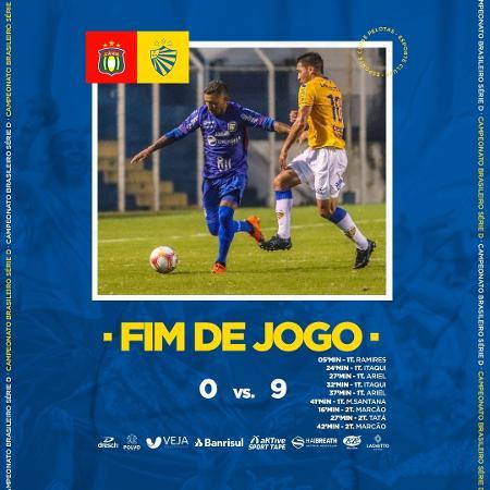 Pelotas fez 9 a 0 no São Caetano - Divulgação/Pelotas