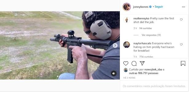 Jon Jones publica vídeo atirando em animal e choca seguidores
