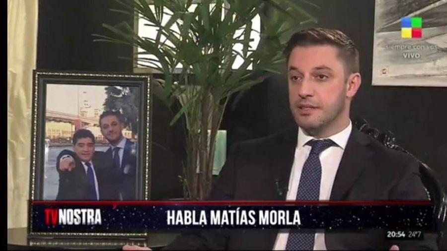 Advogado de Maradona, Matías Morla fala à TV América, da Argentina - Reprodução TV
