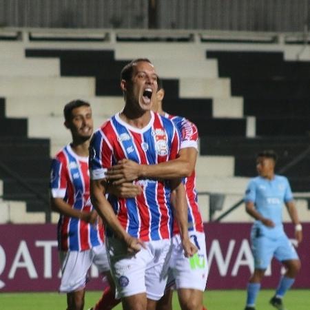 Rodriguinho comemora gol pelo Bahia - Rafael Machaddo / EC Bahia