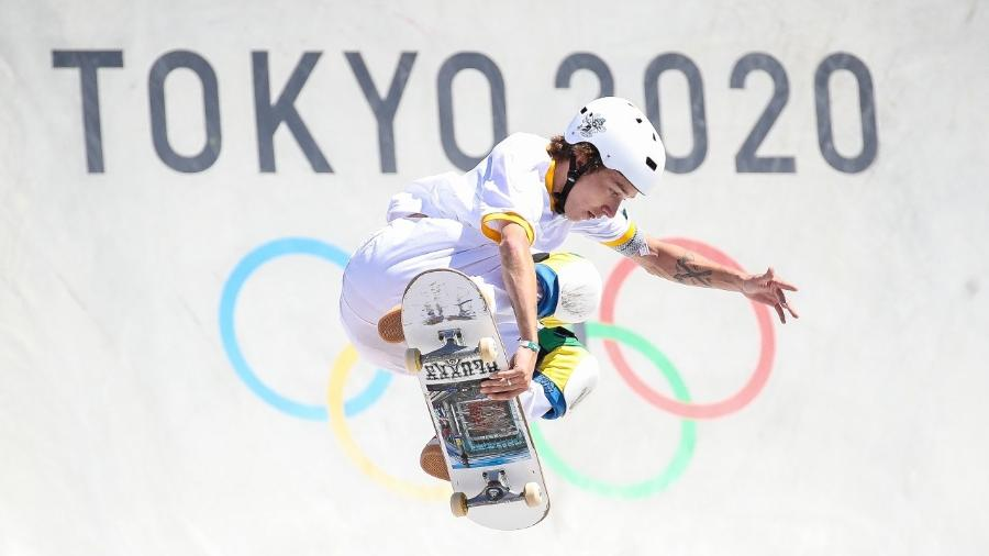 Luiz Francisco, o Luizinho, em sua volta nas eliminatórias do skate park nas Olimpíadas de Tóquio-2020 - Gaspar Nóbrega/COB