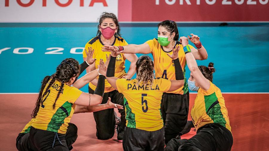 Brasil vence Itália por 3 sets a 1 no vôlei sentado feminino, nas Paralimpíadas de Tóquio - Wander Roberto/CPB