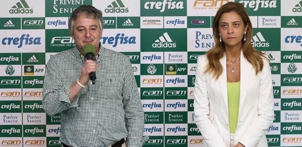 Paulo Nobre e Leila Pereira em janeiro passado, na divulgação do novo uniforme