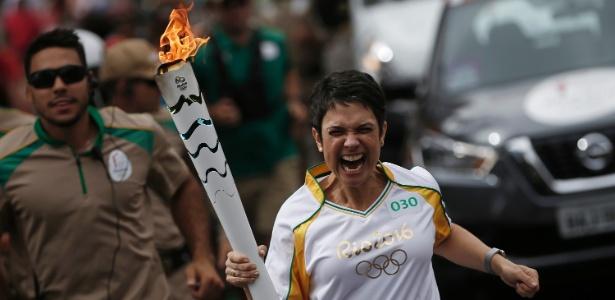 Sandra Annenberg carregou a tocha em Belo Horizonte - Rio 2016/Fernando Soutello