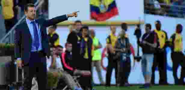 Dunga em Brasil x Equador - AFP PHOTO / Robyn Beck - AFP PHOTO / Robyn Beck