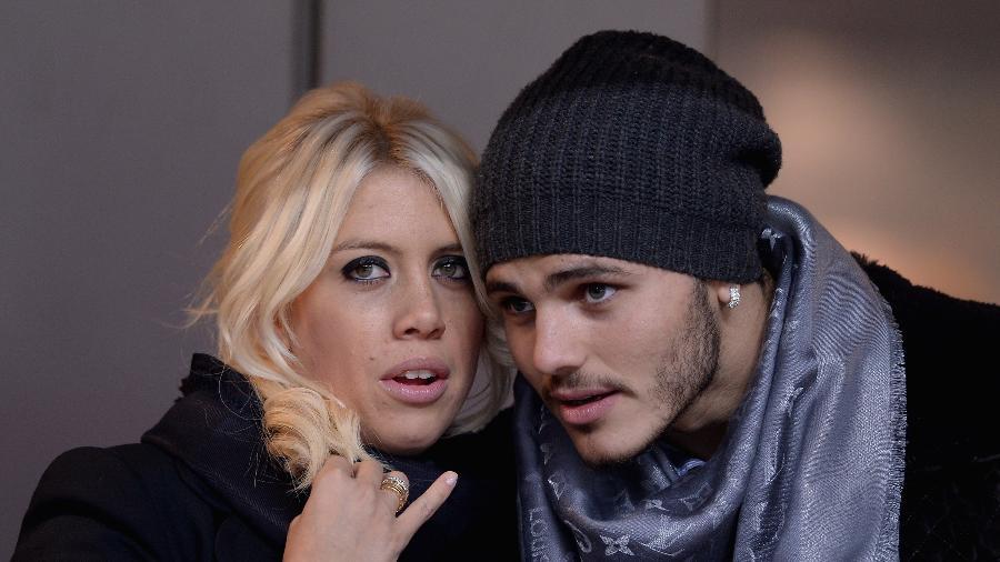 Wanda Nara e Mauro Icardi, atacante da Inter de Milão - Claudio Villa/Getty Images