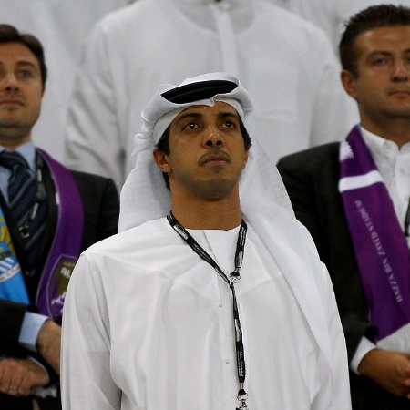 Mansour bin Zayed em partida amistosa do Manchester City - Francois Nel/Getty Images