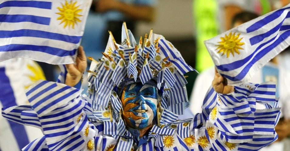 Torcedor uruguaio no estádio Centenário, em Montevidéu