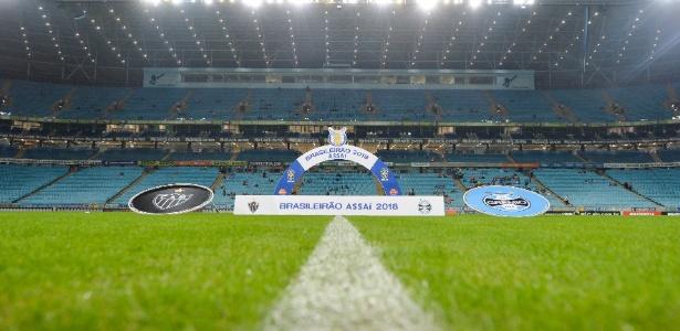Arena pronta para receber Grêmio x Atlético-MG pelo Campeonato Brasileiro - Duda Bairros/AGIF