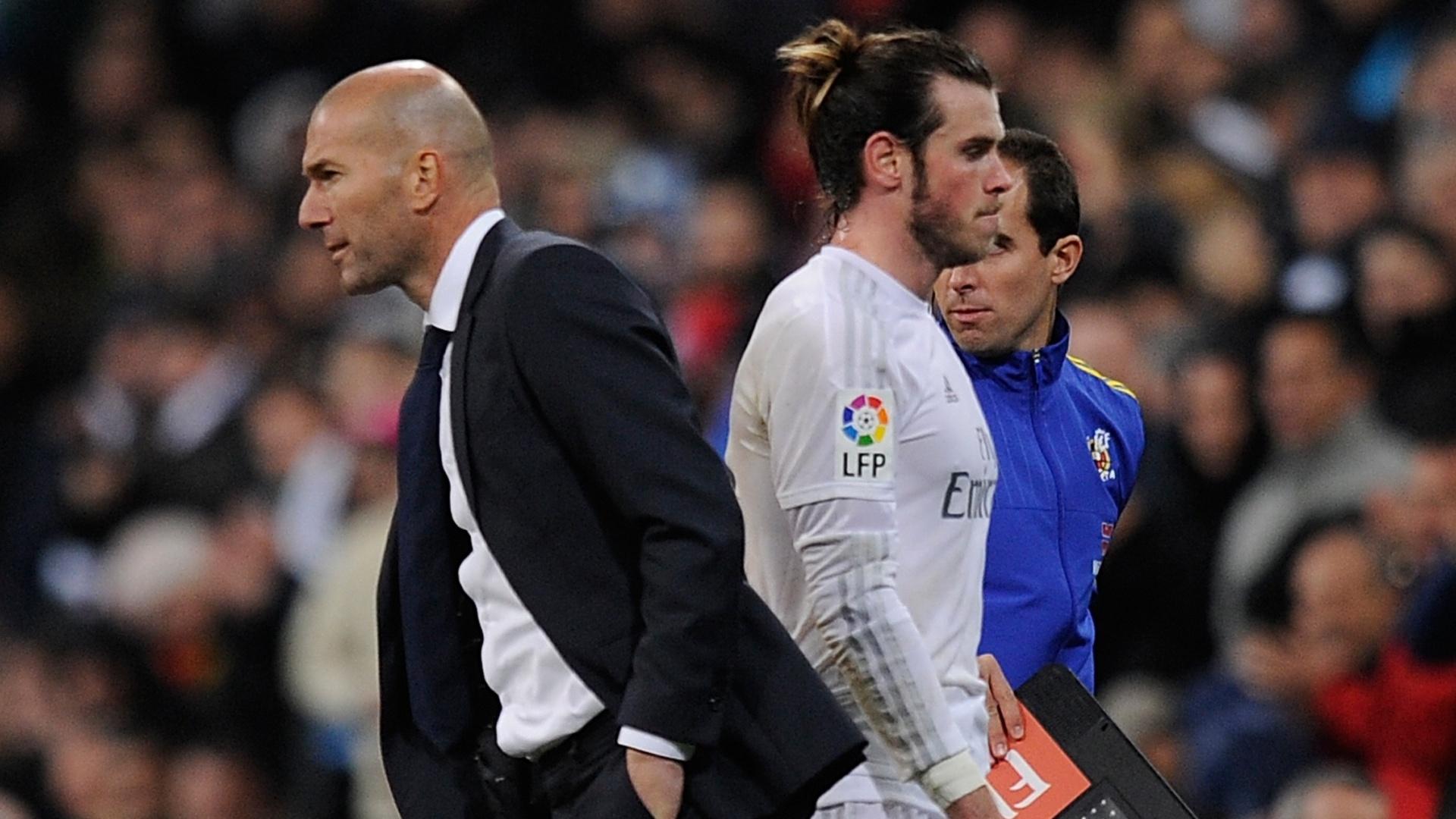 Zidane e Bale, durante jogo do Real Madrid