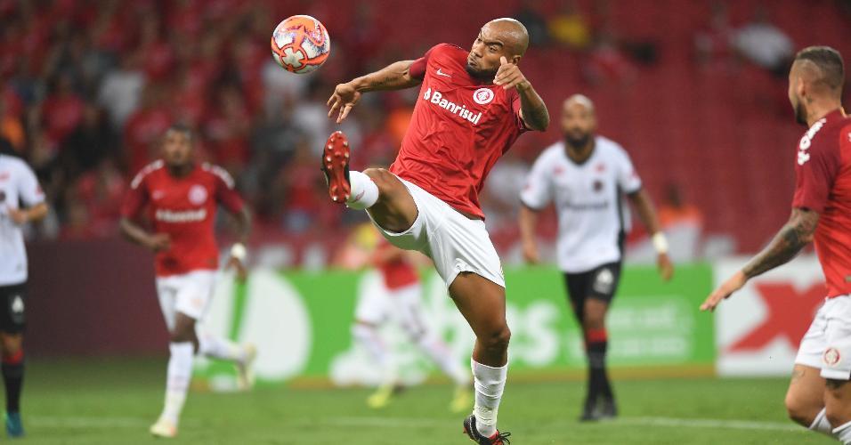 Rodrigo Moledo, durante jogo entre Inter e Brasil de Pelotas