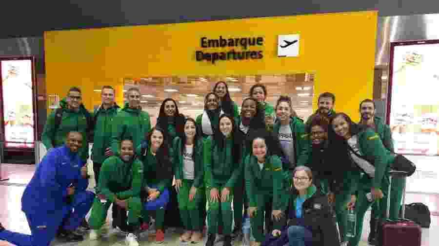 Seleção feminina de basquete embarca para a disputa do Pan - @basquetebrasil