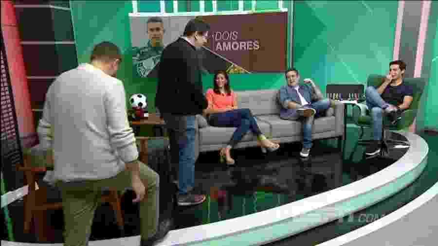 """Dupla da ESPN """"abandona"""" programa após brincadeira envolvendo a Portuguesa - Reprodução/ESPN Brasil"""