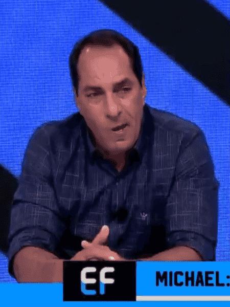 Edmundo se emociona durante entrevista com Michael - Reprodução/Fox Sports