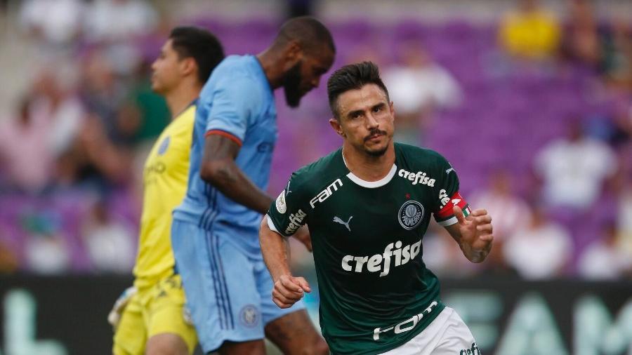 Willian comemora segundo gol do Palmeiras contra o New York City - Rafael Ribeiro/Florida Cup