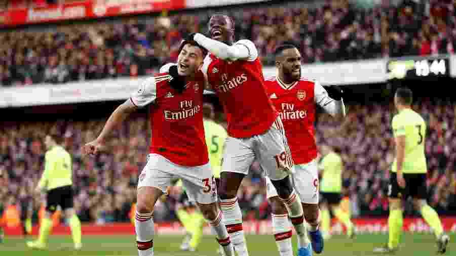 Gabriel Martinelli celebra gol marcado pelo Arsenal - Peter Nicholls/Reuters