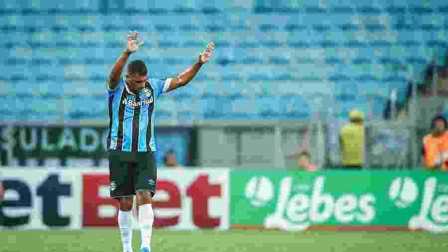 Diego Souza será titular do Grêmio na partida contra o Aimoré, pelo Campeonato Gaúcho - Lucas Uebel/Grêmio FBPA