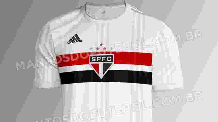 Simulação mostra como deve ser o novo uniforme principal do São Paulo - Simulação/Mantos do Futebol