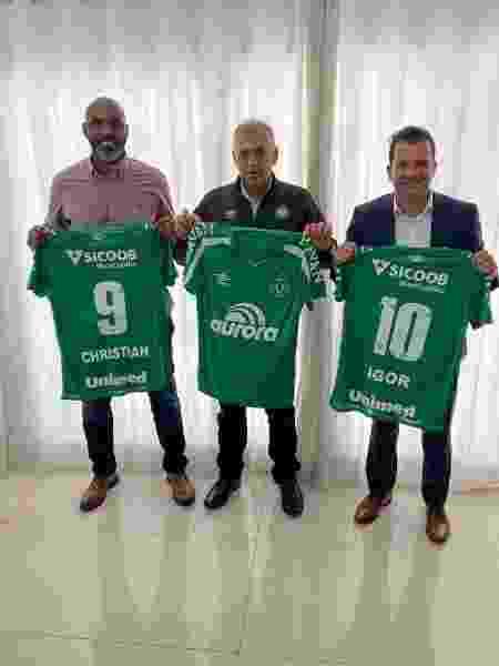 Ex-atacante Christian agora é dirigente no time catarinense - Divulgação
