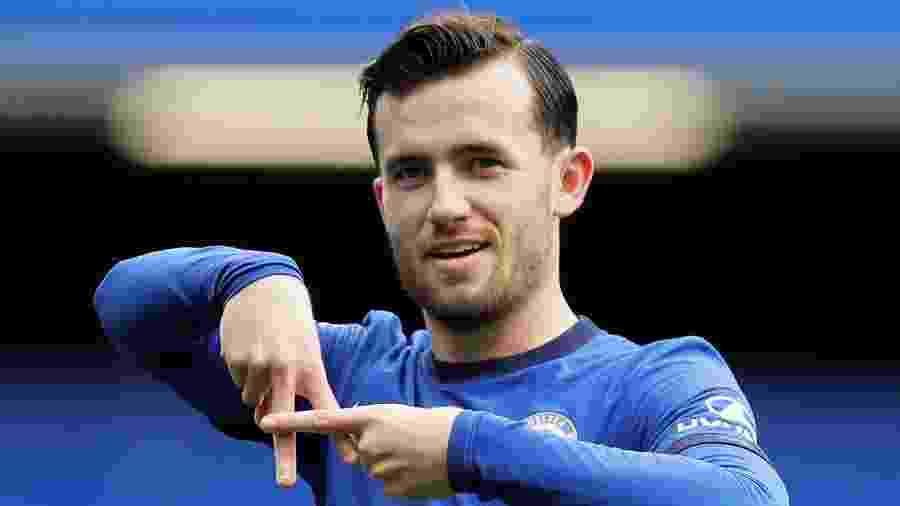 Ben Chilwell comemora gol do Chelsea no Campeonato Inglês - REUTERS/Kirsty Wigglesworth