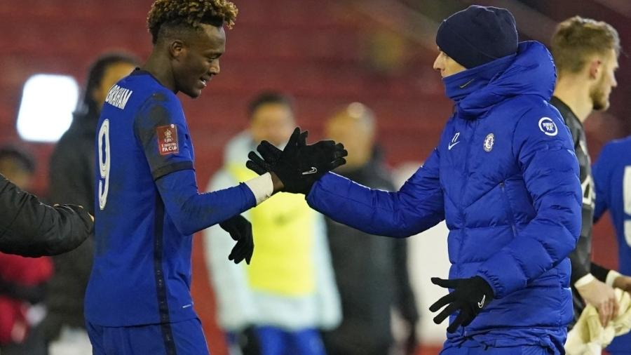 Chelsea vanece com gol de Abraham e avança na Copa da Inglaterra - DAVE THOMPSON / POOL / AFP