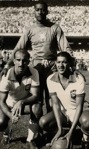 Augusto da Costa, Barbosa e Juvenal, jogadores da seleção brasileira na Copa do Mundo de 1950