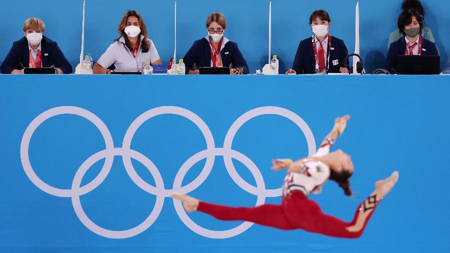 Pauline Schaefer-Betz disputa a qualificatória da ginástica artística - Jamie Squire/Getty Images