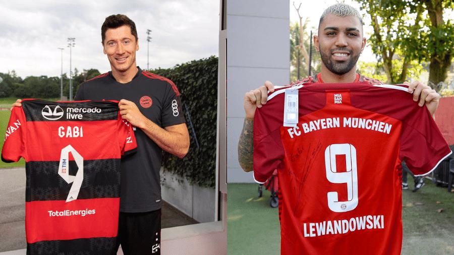 """Gabigol ganha camisa de Lewandowski: """"Craque reconhece craque"""" - Marcelo Cortes/Bayern de Munique"""