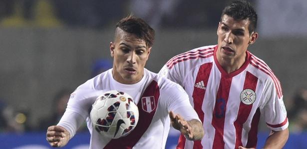Marcos Cáceres (foto) foi chamado para o lugar de Juan Patiño, lesionado - AFP PHOTO / LUIS ACOSTA