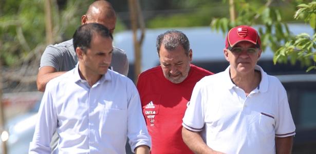 Fred Luz (de camisa vermelha) chegou ao Fla em 2013, no início da gestão Bandeira de Mello