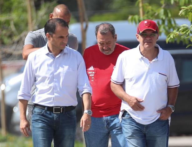 Rodrigo Caetano, Mozer, Fred Luz e o presidente Bandeira de Mello: semana tensa