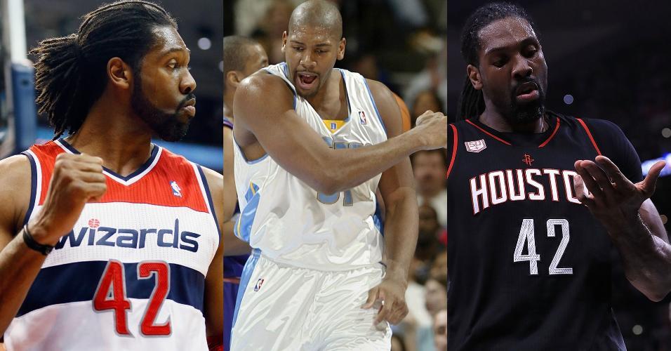 Nenê passou por três times na NBA: Washington, Denver e Houston
