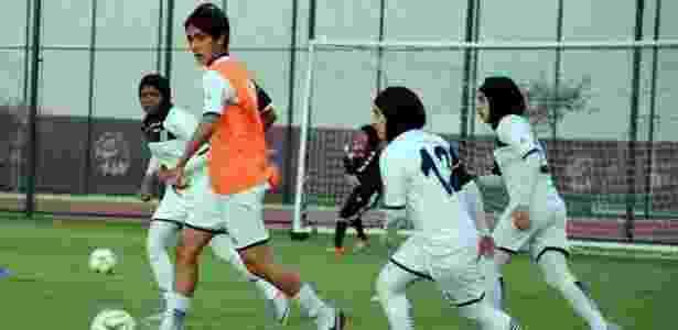 Jogadora da seleção da Síria Alanoud Ghazi Alkhalefeh - Arquivo pessoal - Arquivo pessoal