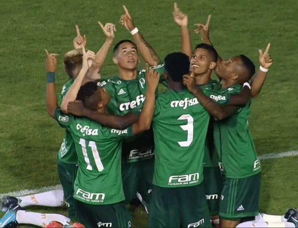 Palmeiras venceu o Moto Club-MA na Copinha