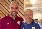 Sampaoli visita Guardiola antes de amistoso da Argentina em Manchester - Reprodução/Twitter